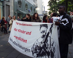 anti-racist protest in Germany
