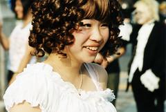 Curly lolita (Lil [Kristen Elsby]) Tags: portrait smile japan japanese tokyo costume asia cosplay curls lolita curly wig harajuku  visualkei gothiclolita eastasia ringlets topv7777