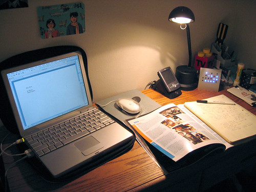 Study/work desk by Nicole Lee, on Flickr