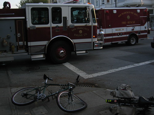 Bicycle after collision, Scott and Haigh by Salim Virji, on Flickr