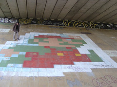Mario and Me (What What) Tags: england streetart underpass geotagged graffiti miltonkeynes nintendo mario pixel mk supermario geolat520301 geolon0771