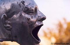 ahhhhh (salehoffline) Tags: 15fav statue iran persia photoblog scream ah tehran salehara