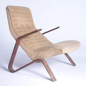 Grasshopper Chair in Gold
