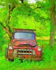 My next car... (slight clutter) Tags: car truck saturated topv1111 topc50 picasa iloveflickr oldcar oldtruck topf100 herbie chickmagnet thingsthatmoved lovemachine supersaturated slightclutter katyahorner slightclutterphotography