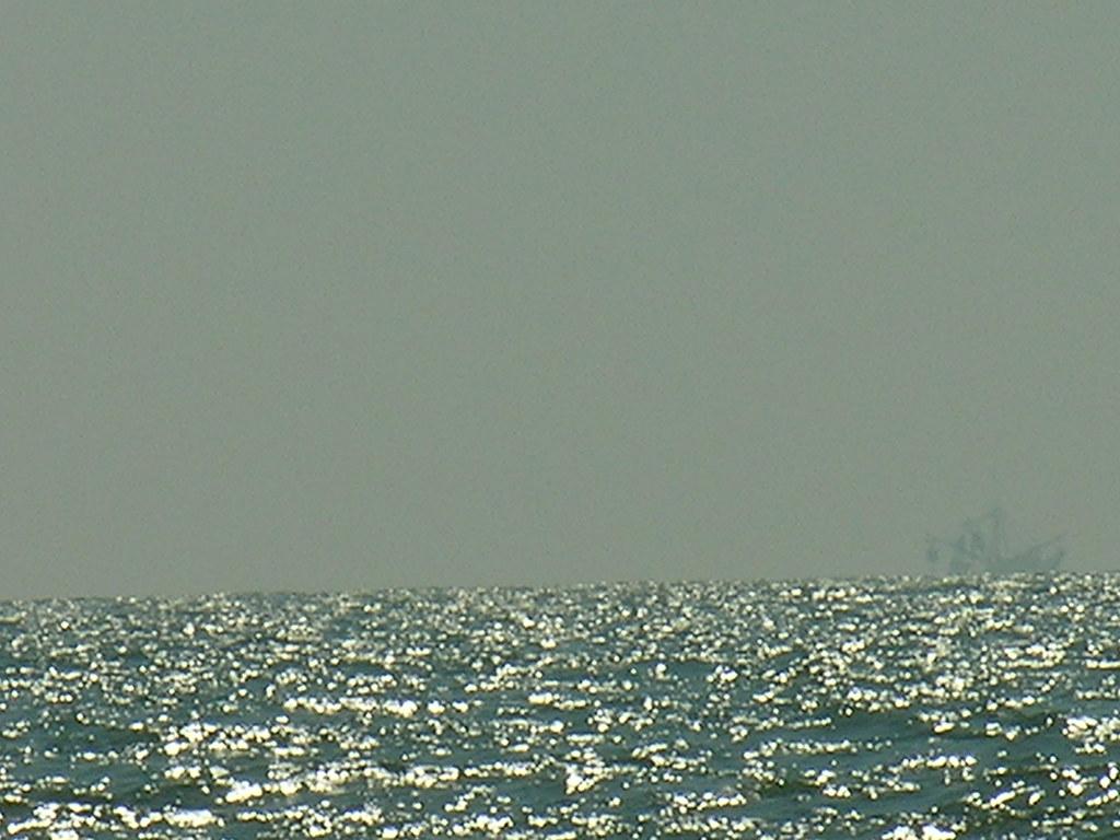 Shrimp Boat on Horizon
