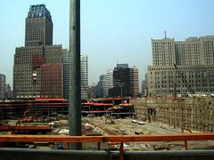 Ground Zero - Sept 11, 2002 (dulcelife) Tags: 911 wtc newyorkcity newyork wallstreet worldtradecenter twintowers dulcelife path financialdistrict disaster groundzero olympus olympus4500