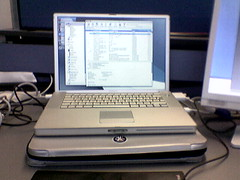 Powerbook on Crumpler (Mark) Tags: powerbook mac crumpler school hymn sleeve apple cameraphone nokia 6230