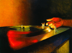 turntable piece (BIGAWK) Tags: music turntables dj qbert light painting motion scratching scratch illustration render urban create color art
