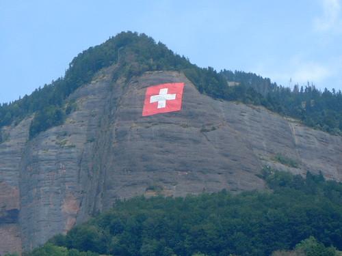Switzerland's flag atop rigi