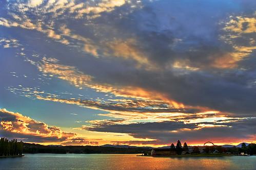 Puesta de sol en Canberra