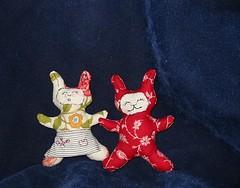Mini Bunny Pair (Rhelynn) Tags: baby rabbit bunny bunnies animal mos toy toys stuffed handmade softies kawaii nuigurumi