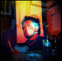 Dr.Jekyll & Mr.Hyde (TommyOshima) Tags: holga doubleexposure colorsplash holgagcfn