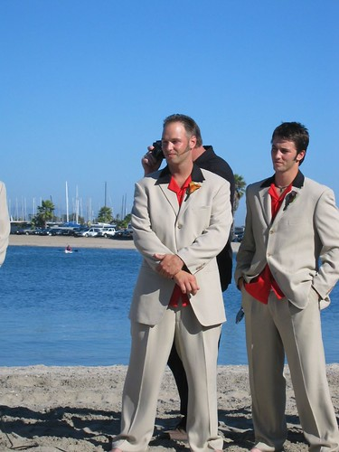 Great suits for beach wedding or modern wedding photo