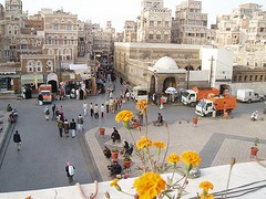 View of Old Sana'a from Bab Al-Yemen (nicolette armansin) Tags: middleeast yemen sanaa bab alyemen