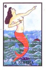 La Sirena.jpg (mwaters) Tags: mexico card mermaid bingo playingcard
