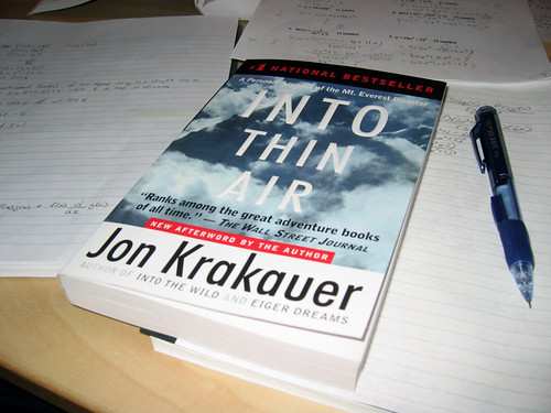 Into Thin Air by Jon Krakauer, book.