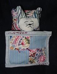 Sleepy Bunny In Bed (Rhelynn) Tags: rabbit bunny bunnies animal mos stuffed doll handmade sewing pillow sleepy softie softies blanket figure bedtime etsy stuffie