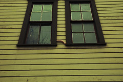 The Case of the Missing Limb (samgrover) Tags: wood windows house lines oregon photoshop portland crossprocessed nikon missing downtown nw arm d70s plastic 1870mmf3545g pdx nikkor limb bw67mmmrcuvfilter casefile