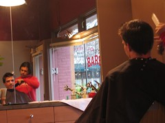 shaping (natala007) Tags: seattle haircut reflection queenanne stephen stephensmith g00dhunter