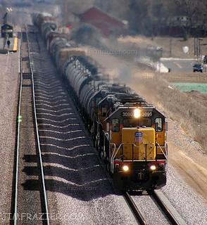 Union Pacific 3090 in La Fox, Illnois