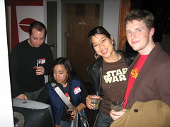 IMG_0190 (tantek) Tags: sanfrancisco matt starwars imac ryan courtney tshirt sxsw courtneyp needstags photomatt glenda 111minna ryanking agendacide glendab needsnotes sxswparty sxsf sxswparty200601