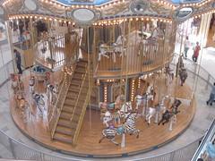 Second Story Carousel (JustJon) Tags: california valencia mall losangeles los angeles carousel merrygoround