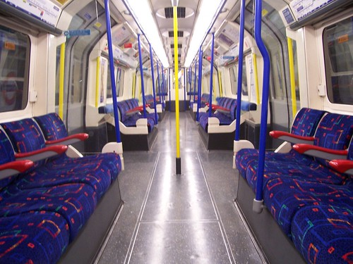 Piccadilly Line train interior