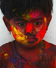 colors (subhasish) Tags: india children holi theface indiankids festivalofcolors
