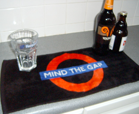 Mind the Gap Spillage Beer Mat