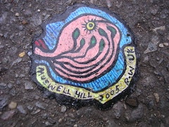 Ben's chewing gum art - DSCN4141 (rahid1) Tags: road street streetart macro london gum graffiti pavement chewinggum graff haringey muswell muswellhill chewinggumman coolpix3100 benschewinggumart benwilson