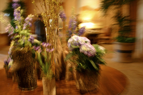 Flowers in Four Seasons Lobby
