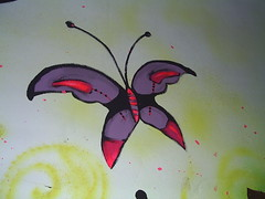 mon papillon prfre___________. (Petite Poupe7) Tags: art butterfly butterflies decorao santateresa houseinprogress loveisdivine bypp7 femaleattack chezju decomju pintando7 5daysofdapainting girlswithattittude monpapillonprefere