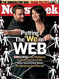 Stewart & Caterina on the cover of Newsweek (April 3rd issue) (Scott Beale) Tags: flickr caterinafake stewartbutterfield newsweek