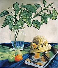 Naturaleza con Sombrero y Frutas (Mara Gal) Tags: stilllife frutas painting pastel sombrero pintura naturalezamuerta softpastel