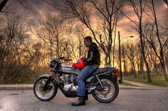 HDR in the local park (J. Star) Tags: honda cincinnati nikond50 multipleexposure motorcycle hdr highdynamicrange vintagemotorcycle rosspark photomatix hondacb750f supersportmotorcycle vintagehonda