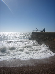 Watching the wave crashing