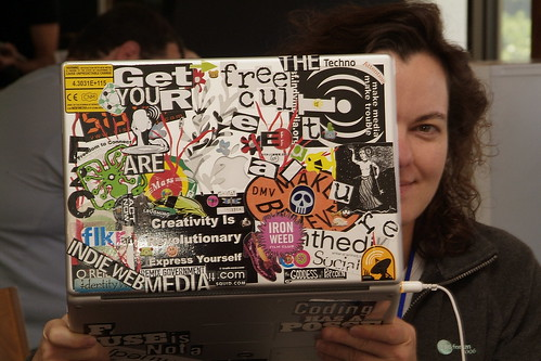 Herbert Bishko took this photo of me and my laptop