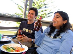 Michael & Kanchan enjoying lunch at the beach house (Princess_Fi) Tags: mogo maluabay