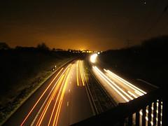 The A1(M) by night (David Cowie) Tags: uk bridge england night geotagged letchworth e550 hertfordshire a1m baldock jackmansestate geolat51973223 geolon0195694