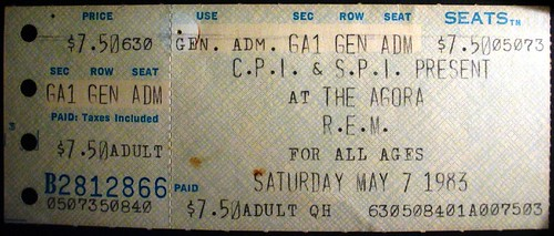R.E.M. at the Agora Ballroom, Atlanta, 1983