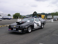 Washington State Patrol race car (Jenni Reynolds-Kebler) Tags: tractor truck drive washington state competition 100views wa 200views trucking compete chevycamaro washingtonstatetruckcompetition allviewsnocomments