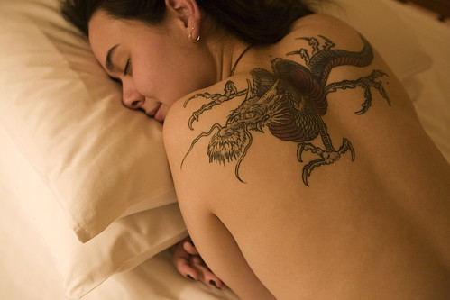 girl with dragon tattoo back. 29, 2008. Sexy Beauty Girl