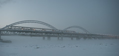 (alexeybahmetyev) Tags: russia river architecture architettura trevel bridge bellissimo bianco white winter world inverno ice nikon d3300 view vista nice viaggio fiume citta nizhny novgorod freddo snow