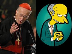 Mr. Ruini, Cardinal Burns (Racchio) Tags: cardinale camillo ruini mr monty burns simpsons confronto