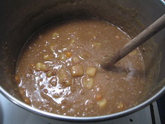 Making  Japanese Curry, Finished Sauce