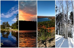 Verticals I Have Known (ick Harris) Tags: autumn winter panorama lake snow ontario canada tree fall topv111 vertical spring pond cottage algonquin lakestpeter wanakita fav10 regioncottagecountry
