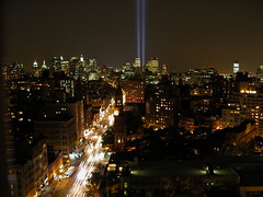 From my Roof September 11, 2003 (TheMachineStops) Tags: nyc wtc tributeinlight memorial towersoflight terrorism aerial remember 91101 2001 2003 godblessamerica patriotism usa night skyscrapers city skyline architecture america twintowers worldtradecenter tribute september112001 september11 newyorkcity 911 manhattan westvillage views6000