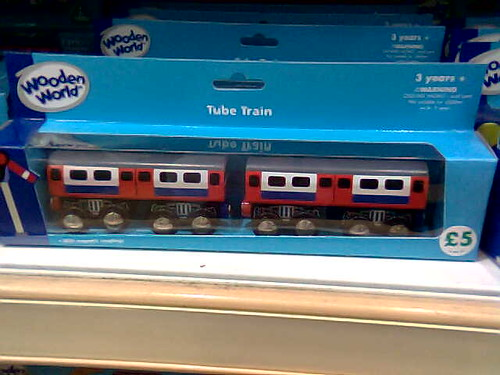 Packaged London Underground Wooden Toy Tube Train