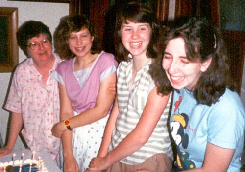 Group shot - my 15th Birthday June 1986
