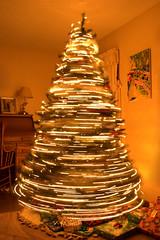 My Christmas Tree (Joshb60796) Tags: christmas tree plant blur lights lines warm glow pine presents gift home electric interestingiftrue